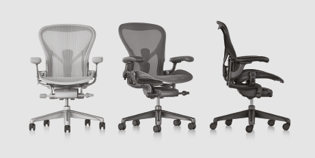 aeron chairs colour choice card Materialien